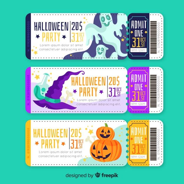 Download Hand Drawn Halloween Tickets for free (Có hình ảnh)