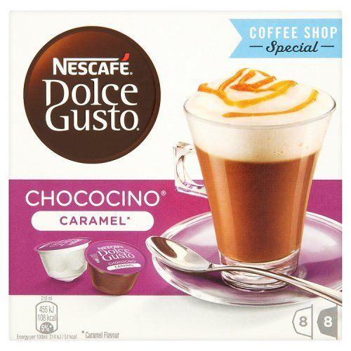 Nescafe Dolce Gusto Chocolate Choco Caramel Pods 8 Drinks You Can Find More Details By Visiting The Image Link Dolce Gusto Nescafe Caramel Drinks