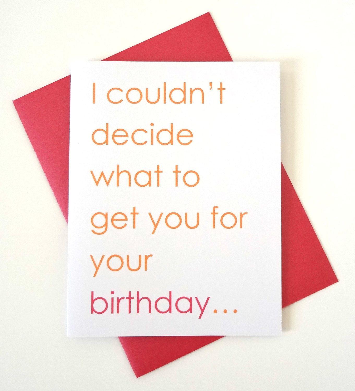 Funny Sexy Birthday Card For Boyfriend Husband Wife Or Girlfriend