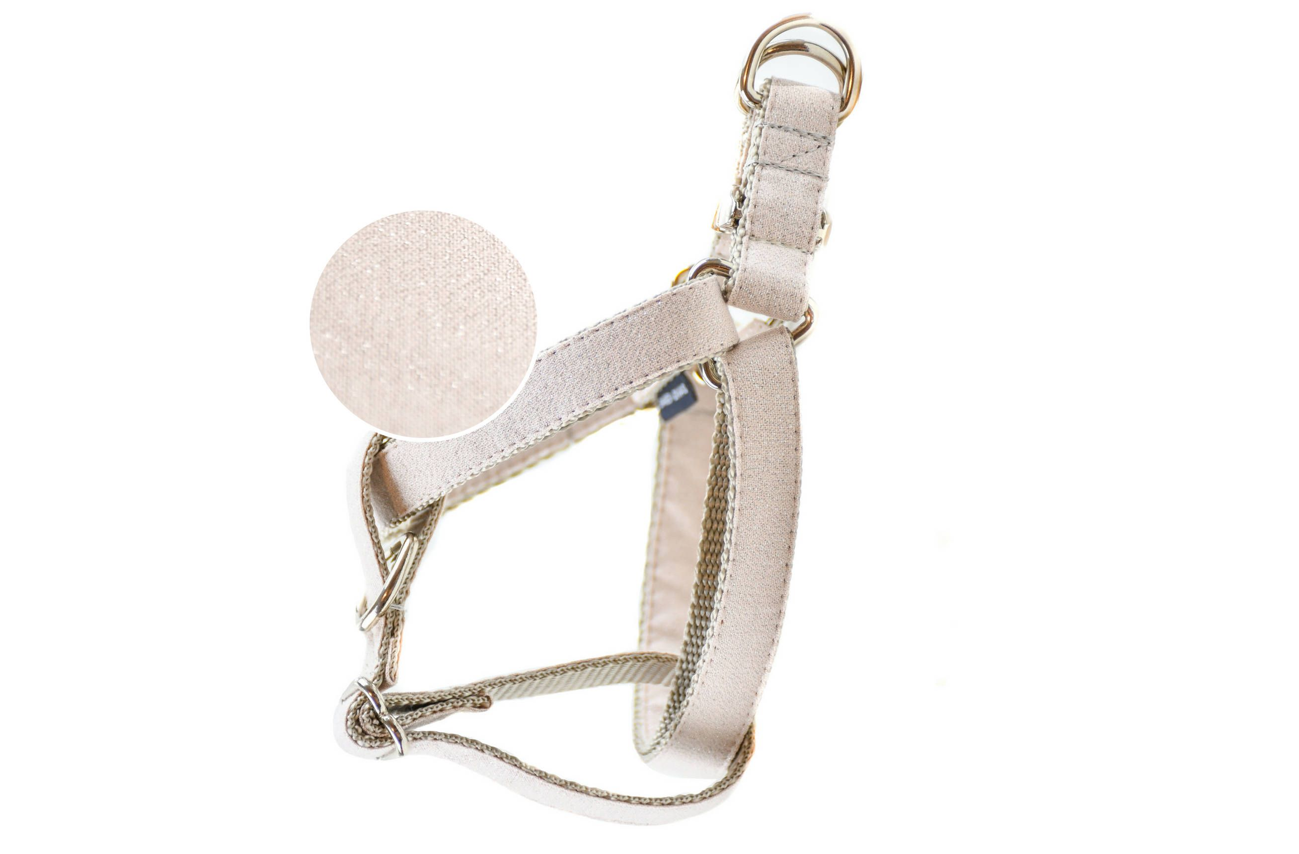 Creamrose Metallic Pearl Dog Harness No Pull Front Clip Step In
