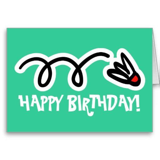 Открытка к дню рождения бадминтон