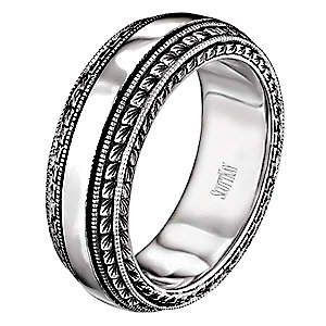 Stunning Love the vintage look match my engagement ring Vintage mens wedding bands