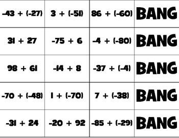 bang adding and subtracting integers pdf