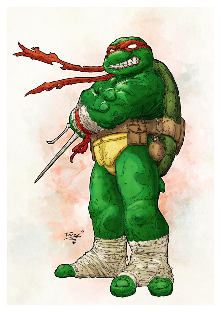 teenage mutant ninja turtles raphael by tristan jones colours by