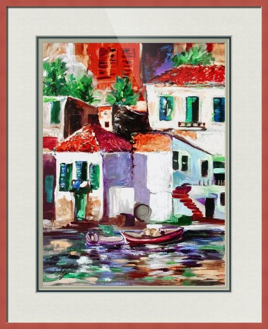 """#Seaside Village  In #Italy"""" by Ginette Callaway"""