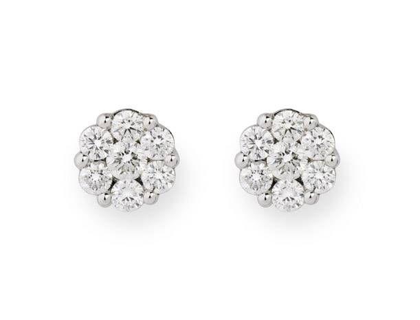 7b9e1b43baa6 Pendientes Dormilonas Rosetón NICOL´S. Pendientes de diamantes Dormilonas  en forma de rosetón