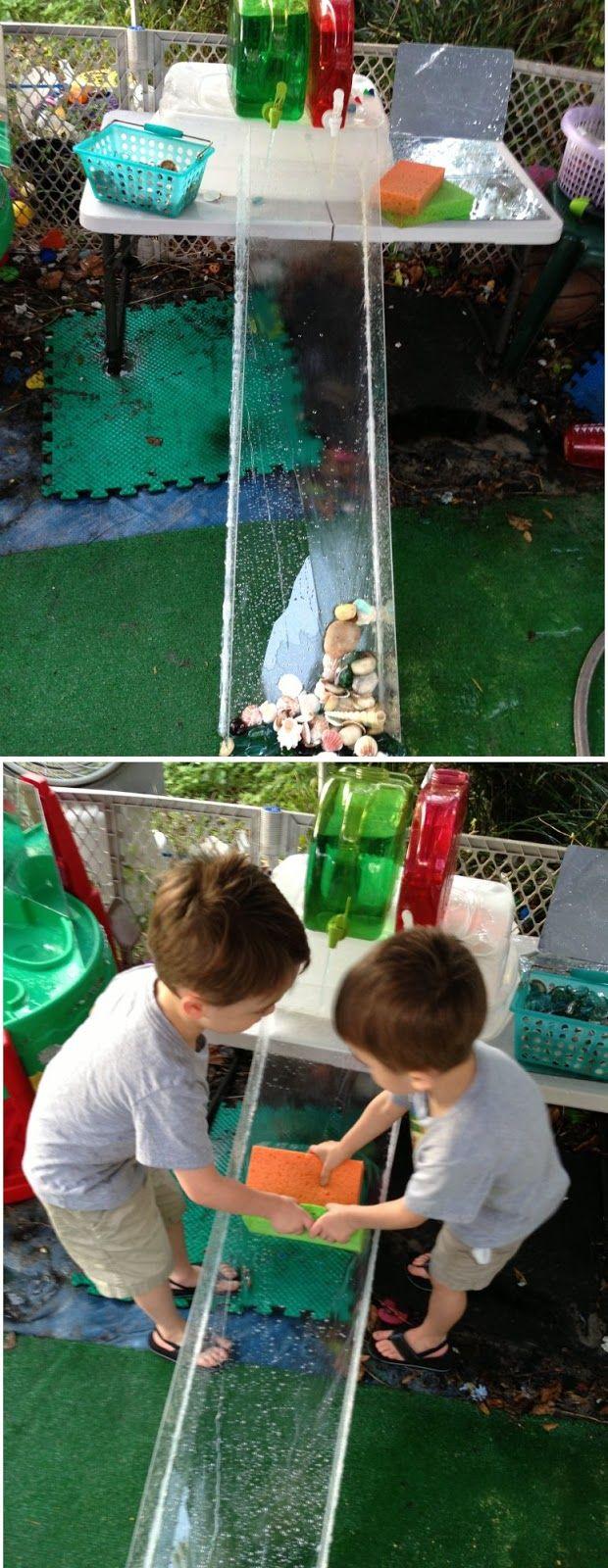 DIY Water Ramp   Kids playing, Outdoor play spaces ...