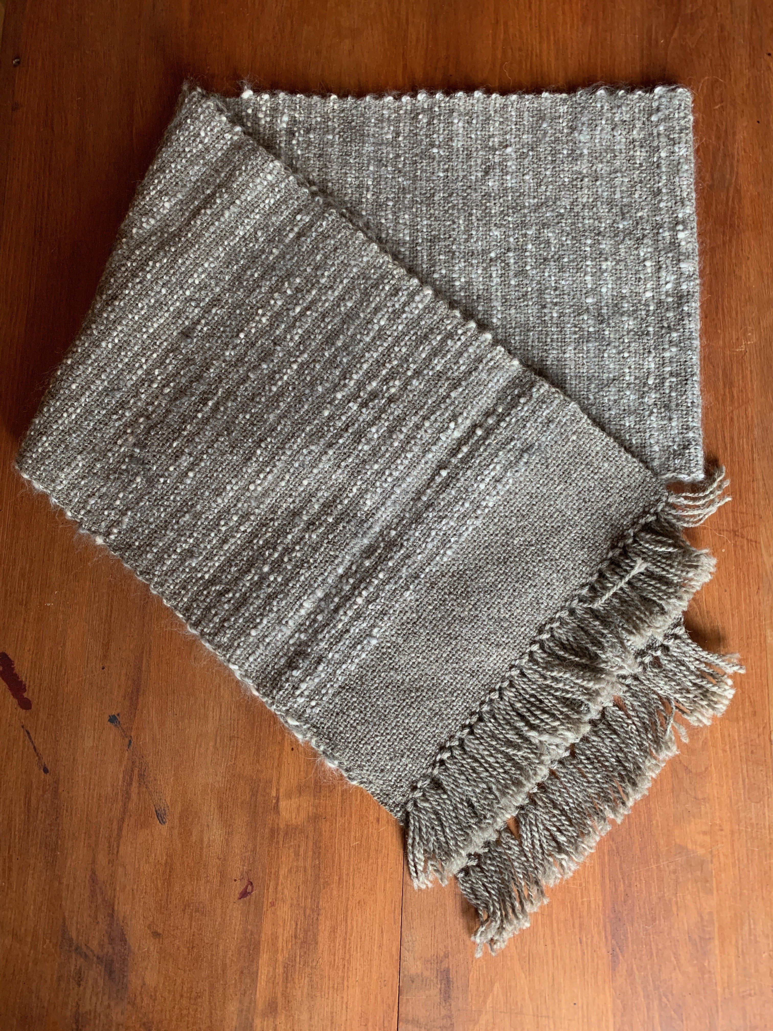These handwoven wool scarves are woven in a unique farm pattern. Beautiful, unique and, versatile accessory that is #oneofakind Unique wool blends | Hand wash and lay flat to dry Double wrap scarf length.