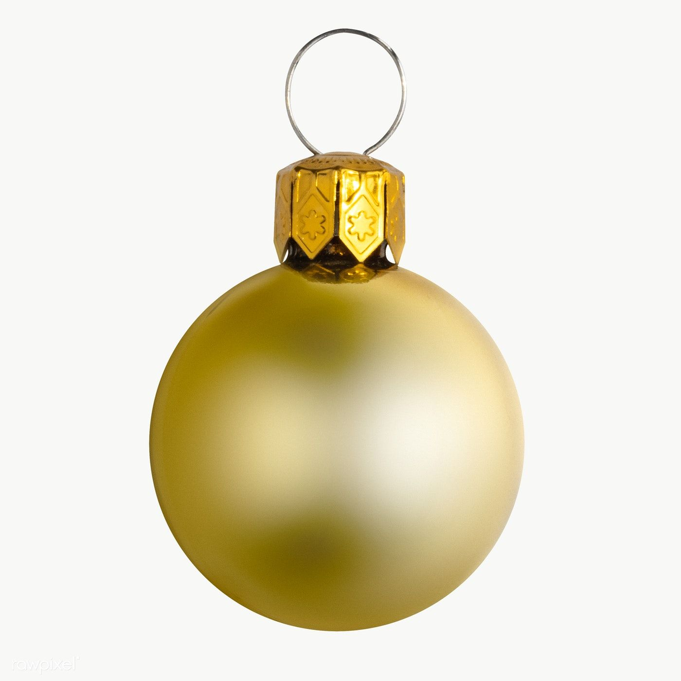 A Shiny Gold Ball Christmas Ornament On Transparent Free Image By Rawpixel Com Jira Christmas Ornaments Christmas Bulbs Transparent