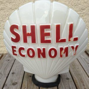 "Made by Pogo/'s Garage 13.5/"" Gas Pump Globe Shell Gasoline"