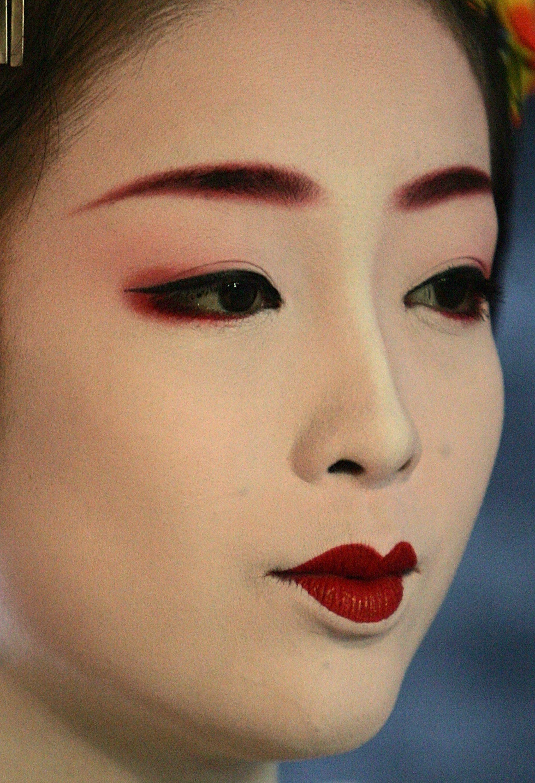 Makeup of a geisha