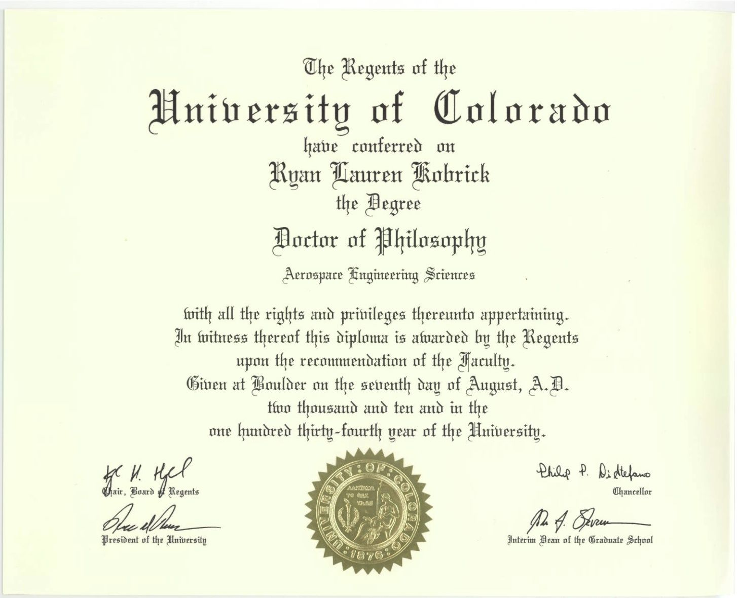 Phd Degree Template My Forth Degree, A Symbol Of