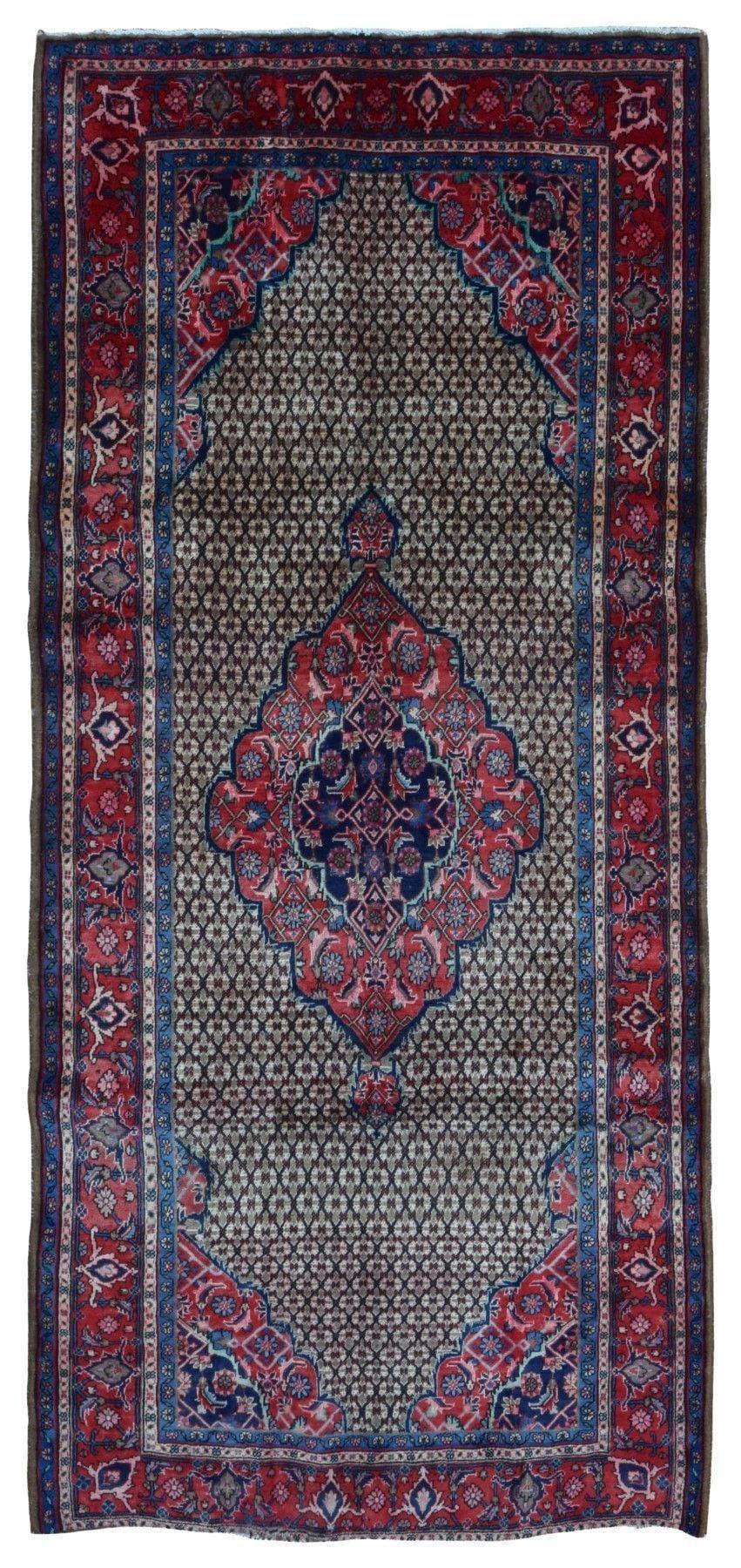 Semi-Antique Persian Hamadan Runner Rug 5'1X10'6