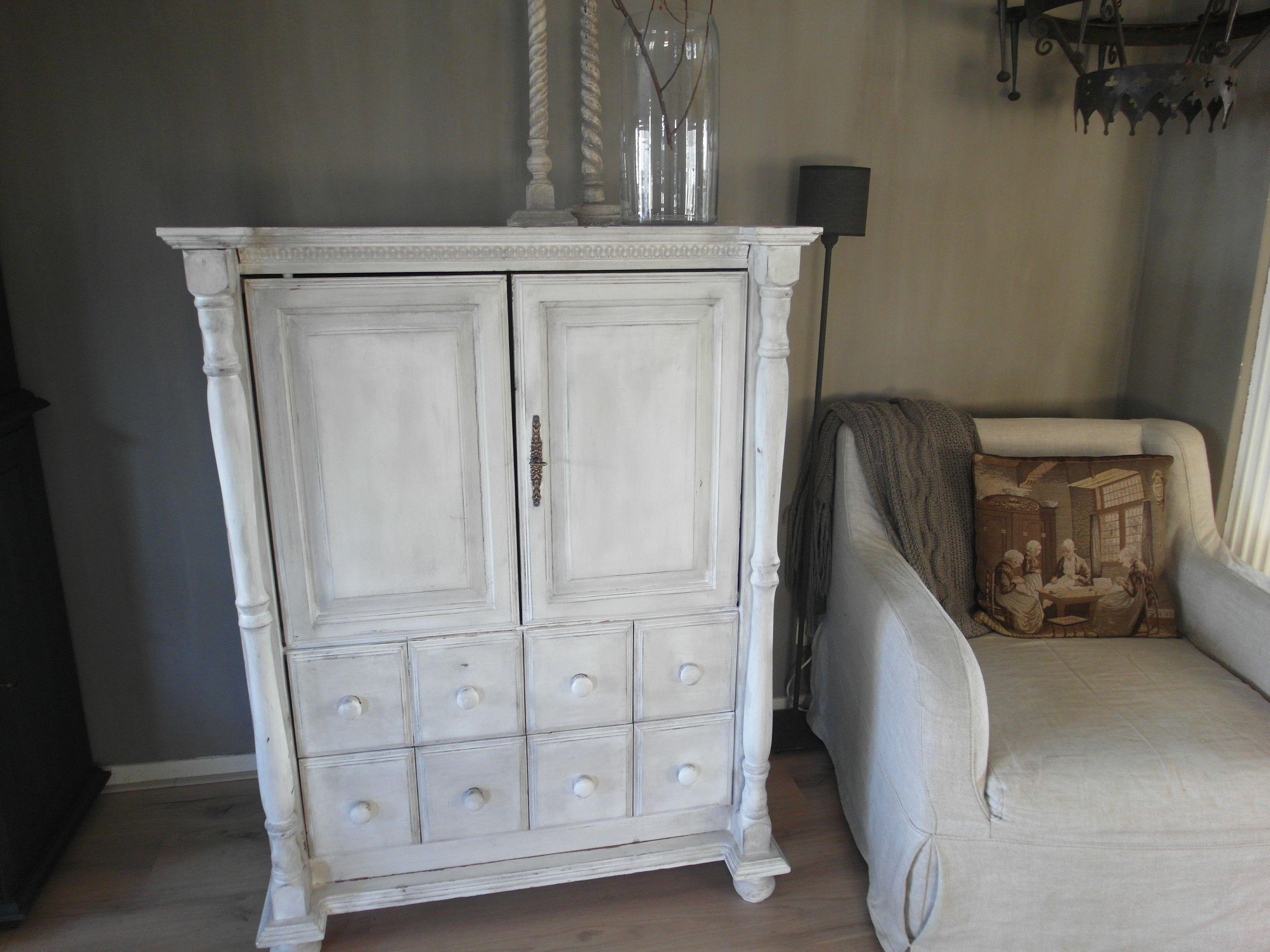 Tv Kast Wit : Tv meubel van mdf en frans eiken hout interieur timmerwerken