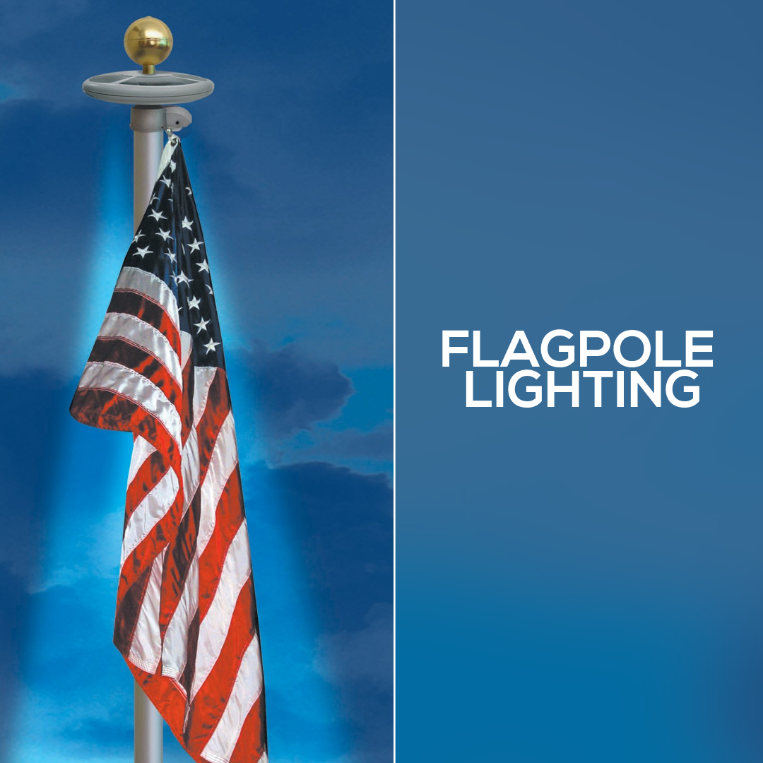 Did You Know That A Flag Should Not Be Flown At Night Unless There Is Light Shining On It We Have A Variety Of Differe Flagpole Lighting Flag Pole Best Flags