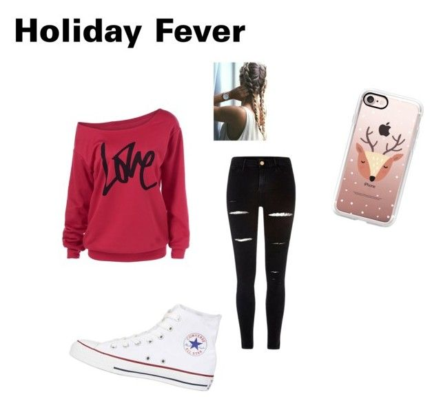 """""""Time for the holidays !!!!!"""" by cas10140 on Polyvore featuring River Island, Casetify and Converse"""