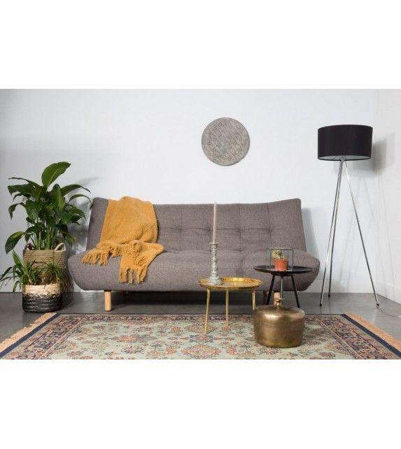 Canapé Lit gris esthétique et tr¨s confortable avec son style cosy