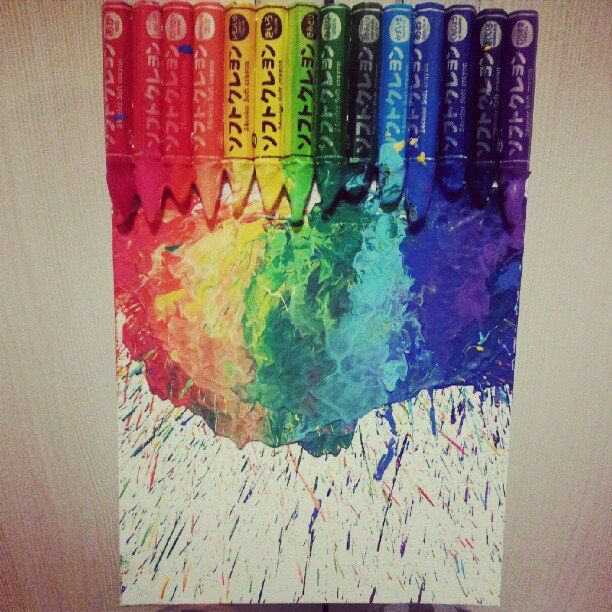 My 5min Crayon Art Splatter Poster Board Completed Cost Me