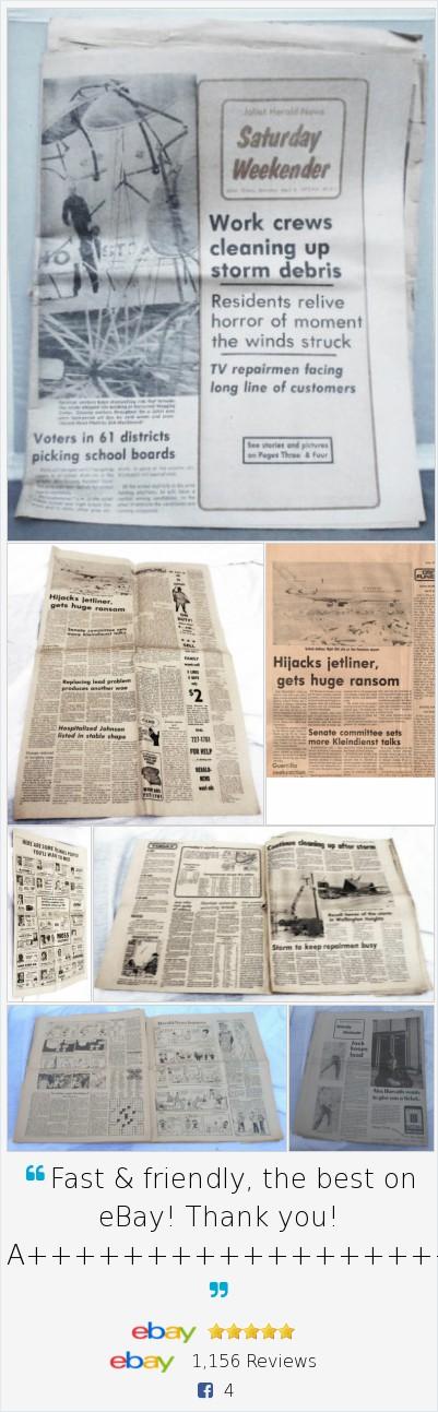 Details about Joliet Herald News Illinois April 8, 1972 Complete