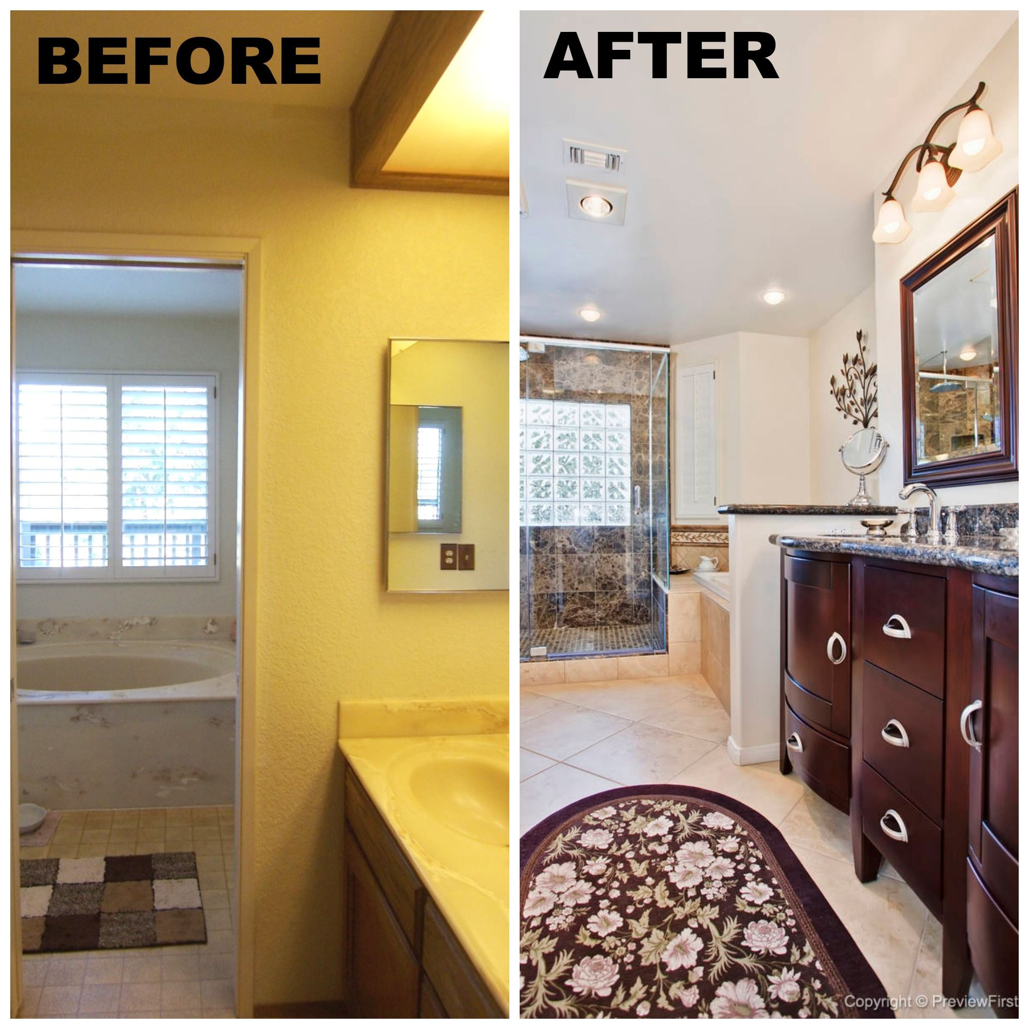 San Diego Bathroom Before and After www.RemodelWorks.com ...