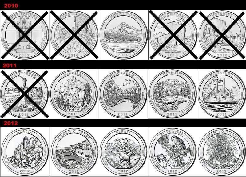 State Quarter Error List State Quarters Circulated Coins I - Rare us state quarters