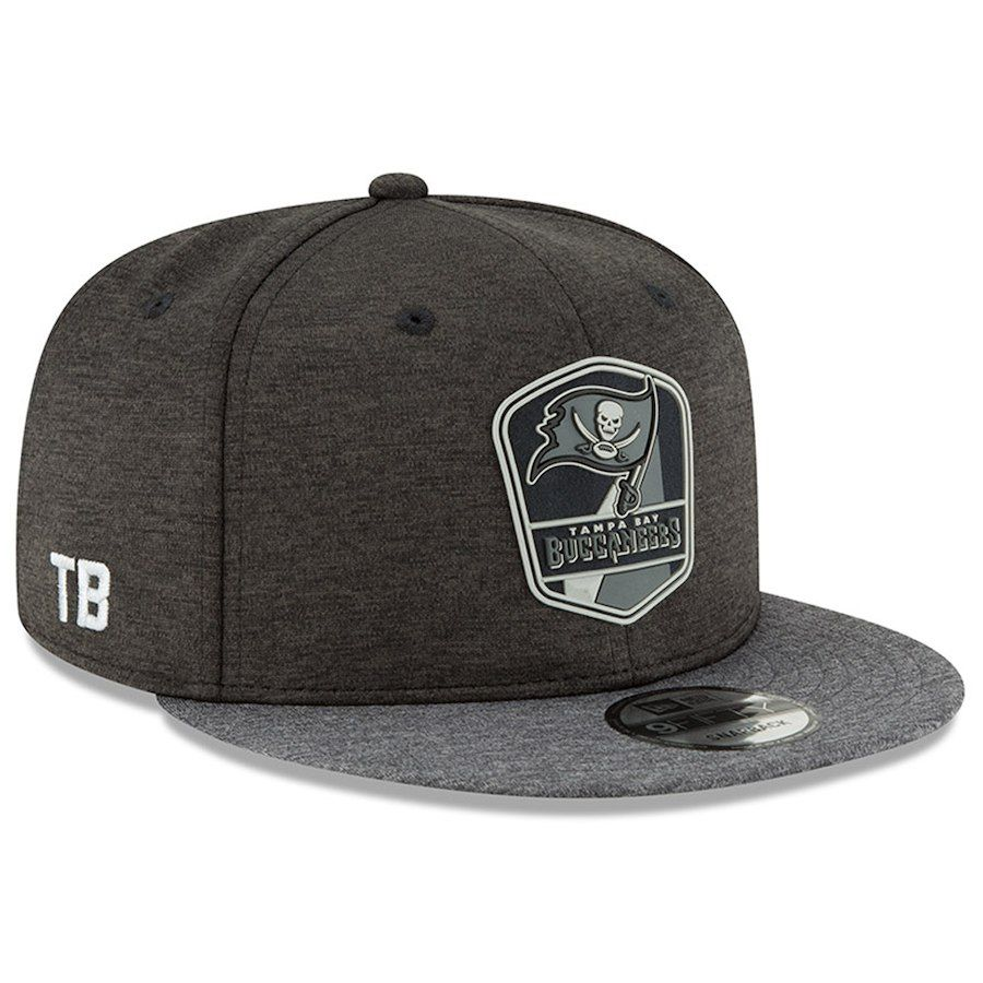 6739a61f302417 Men's Tampa Bay Buccaneers New Era Heather Black/Heather Charcoal 2018 NFL  Sideline Road Black 9FIFTY Snapback Adjustable Hat, Your Price: $34.99