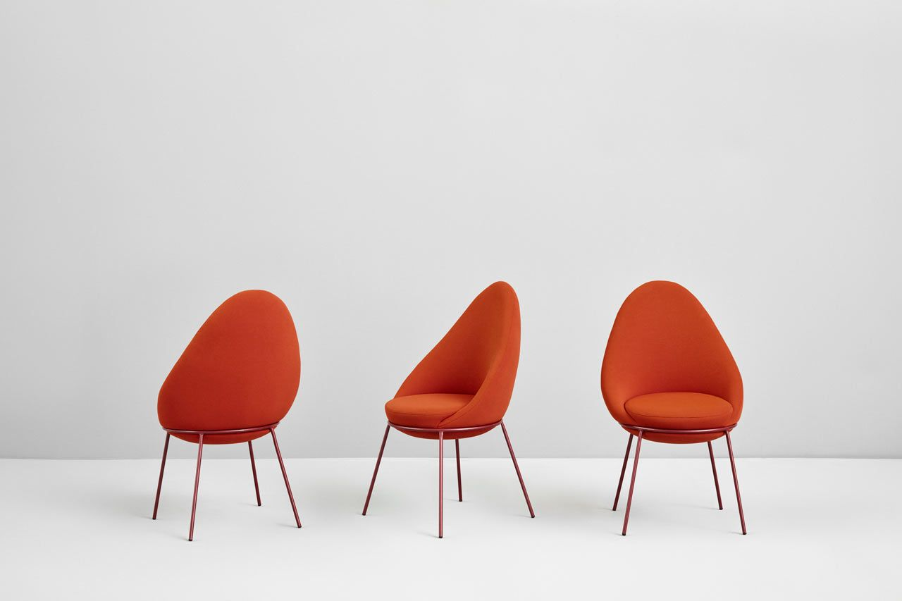 Nest is a curvy collection of seating by paula rosales for missana design milk