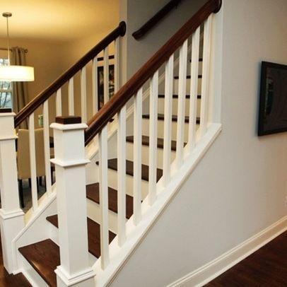 Lorna   1950u0027s Cape Cod, Stairs/railings Mix Of Dark Wood With .. Staircase  RailingsOpen ...