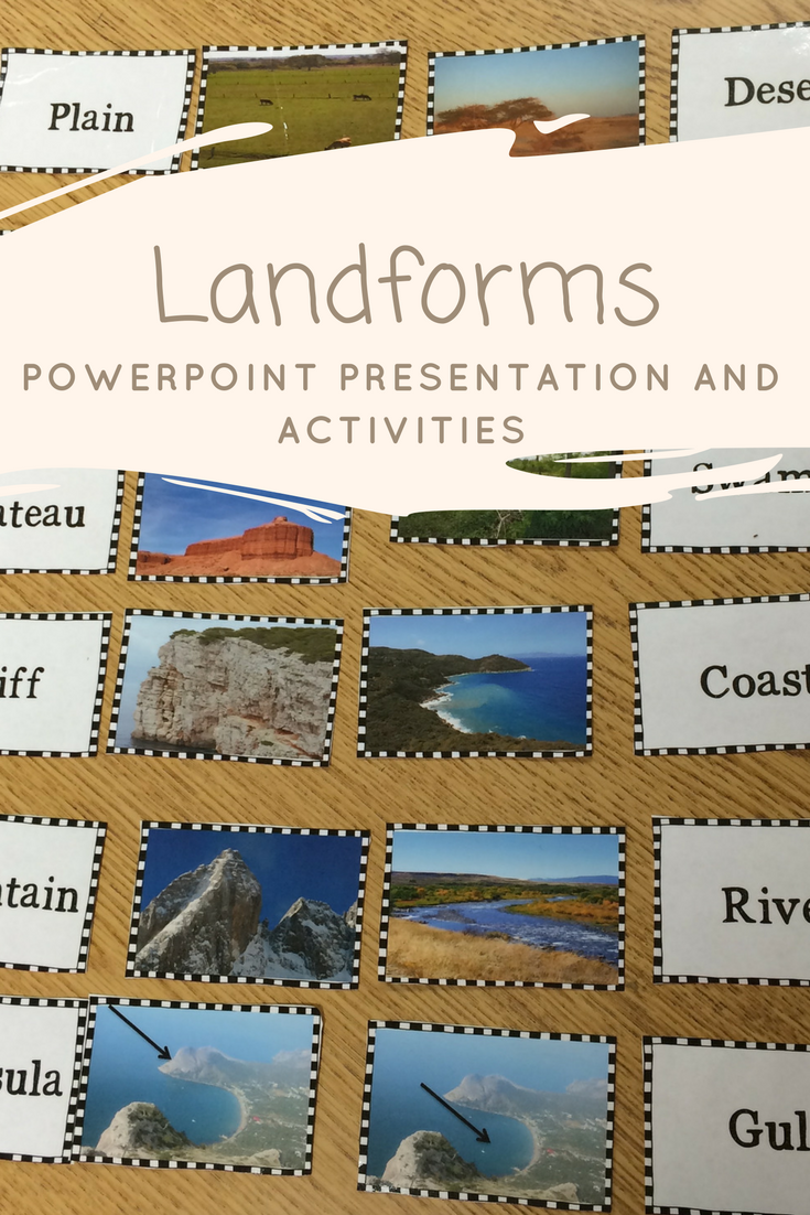 Landforms Activities and PowerPoint | Activities, Worksheets and ...