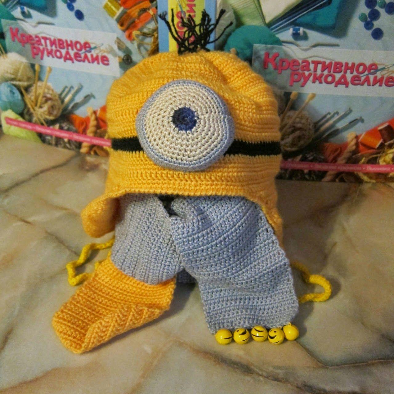 Touca Minions Croche pro Bebe
