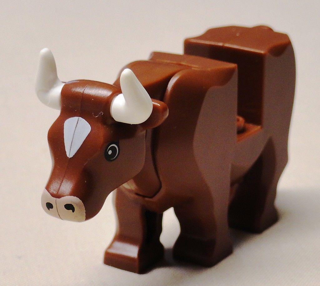 LEGO WHITE CHICKENS ~ TWO Minifigure Farm Birds City Set Animal Pets  ** NEW **