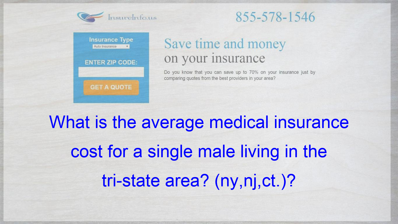 What Is The Average Medical Insurance Cost For A Single Male