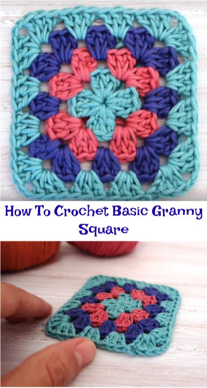 Crochet basic granny square pattern free