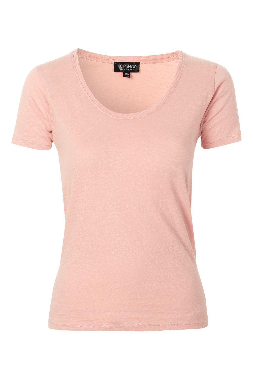 Scoop Neck T-Shirt | Topshop