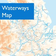 Map Of Uk Rivers And Canals.Map Of Britain S Navigable Waterways Canalboats Narrowboat