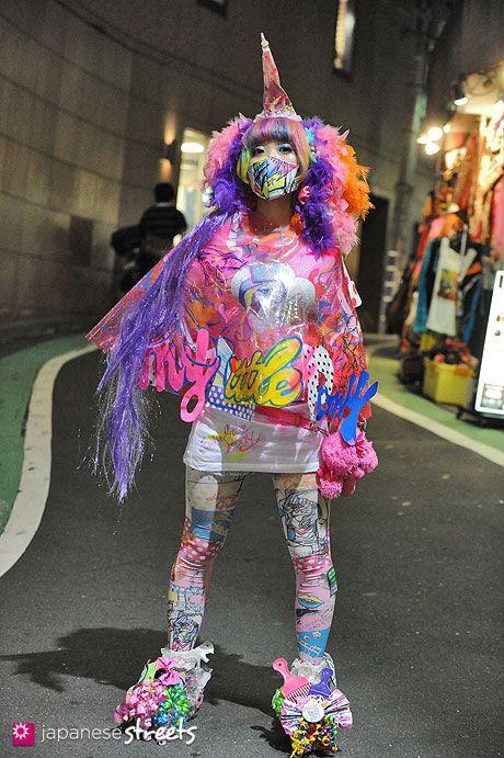 Harajuku est l'endroit idéal pour rencontrer des looks uniques ! :D