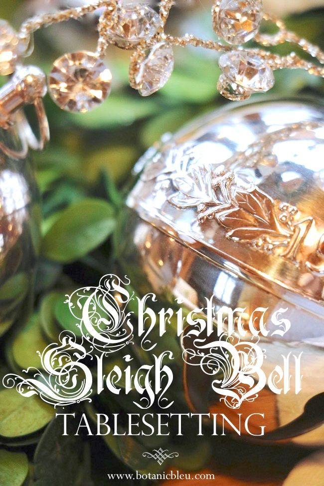 Christmas Sleigh Bell Tablesetting Christmas Decor Pinterest