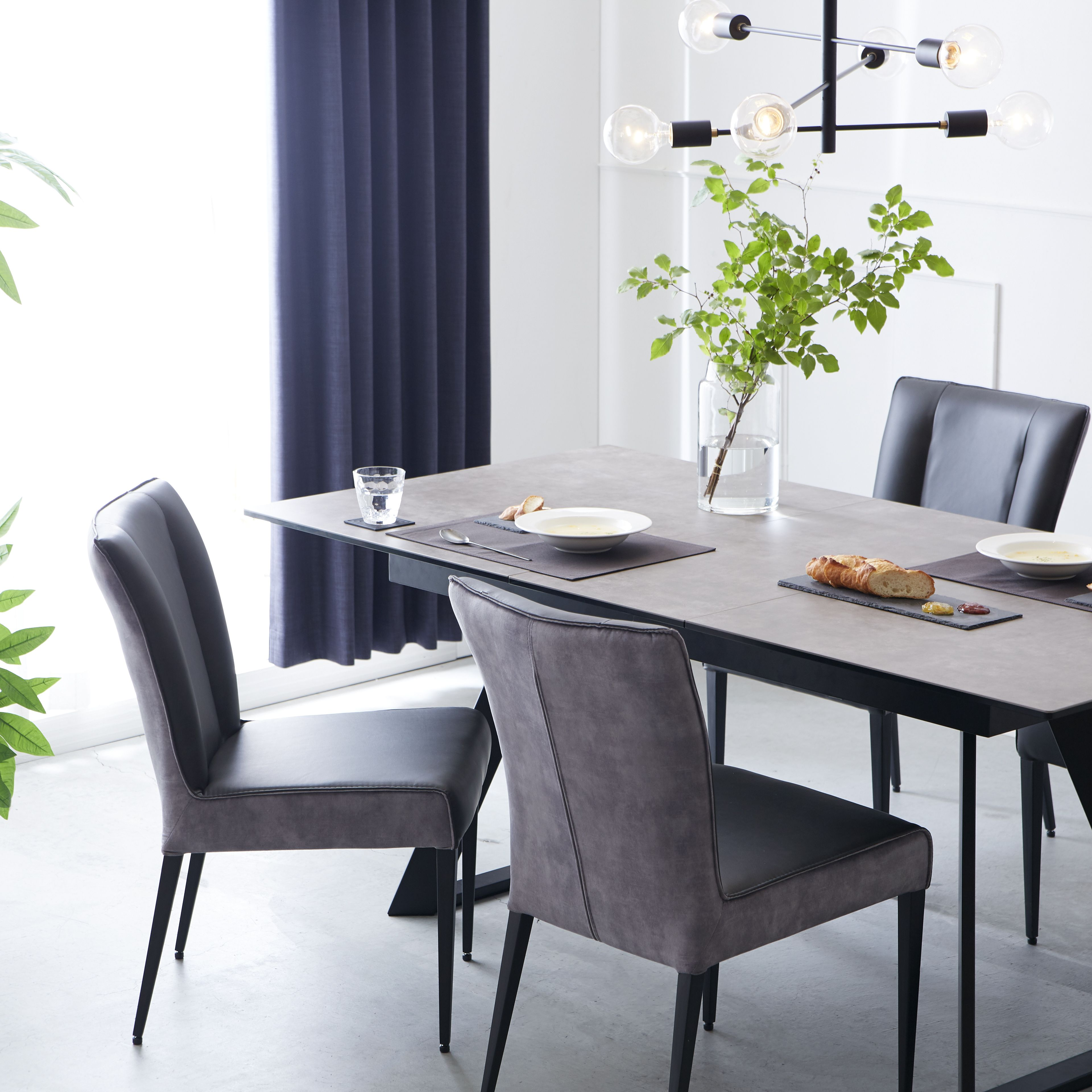 シュタインダイニングテーブル インテリア 家具 伸長式ダイニングテーブル インテリア