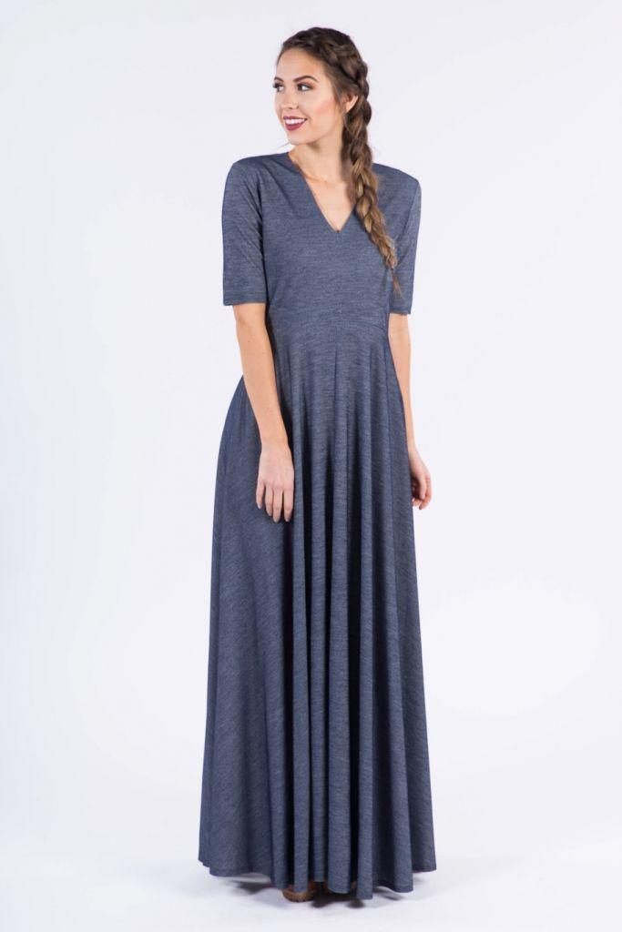 Ankle Length Denim Dress