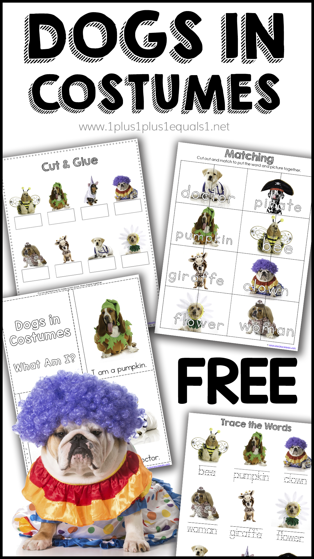 Dogs In Costumes Fun Amp Free Printable Pack