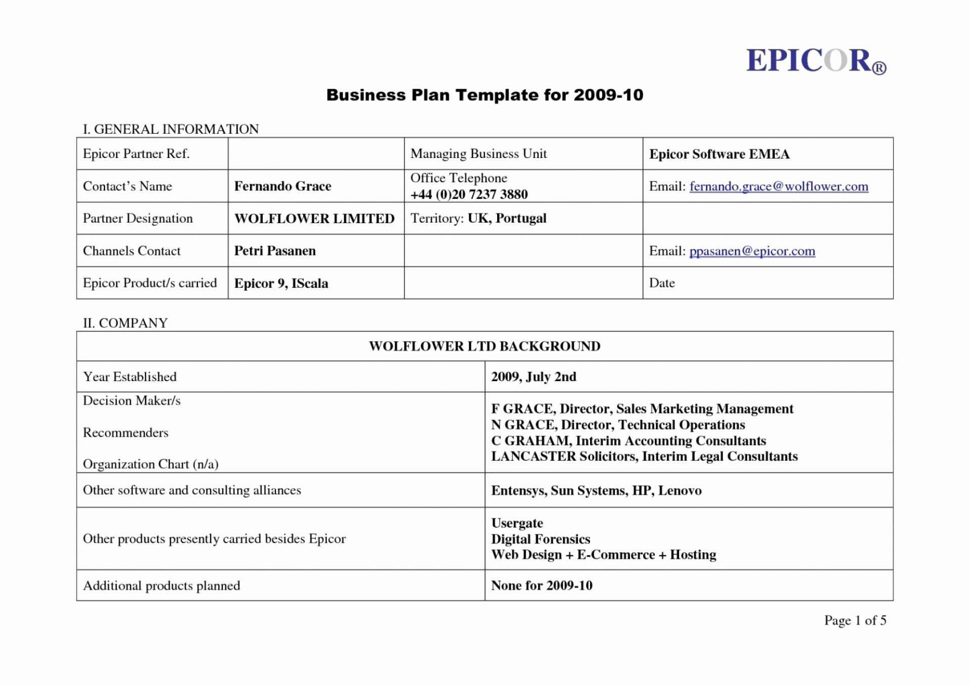 Business Continuity Plan Template for Banks Business