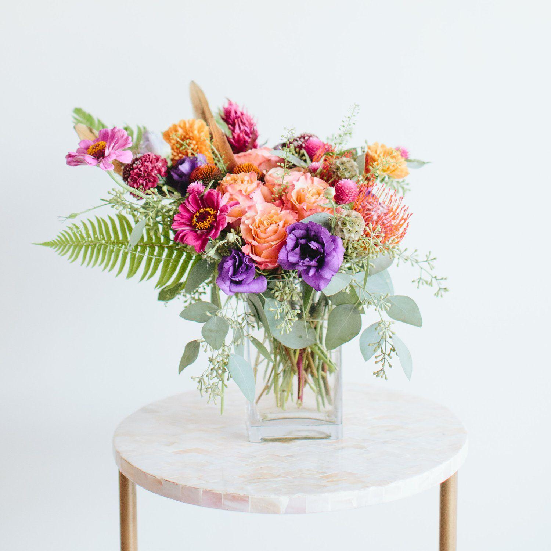 Boho Garden Arrangement Summer Flower Arrangements Flower Arrangements Floral Arrangements
