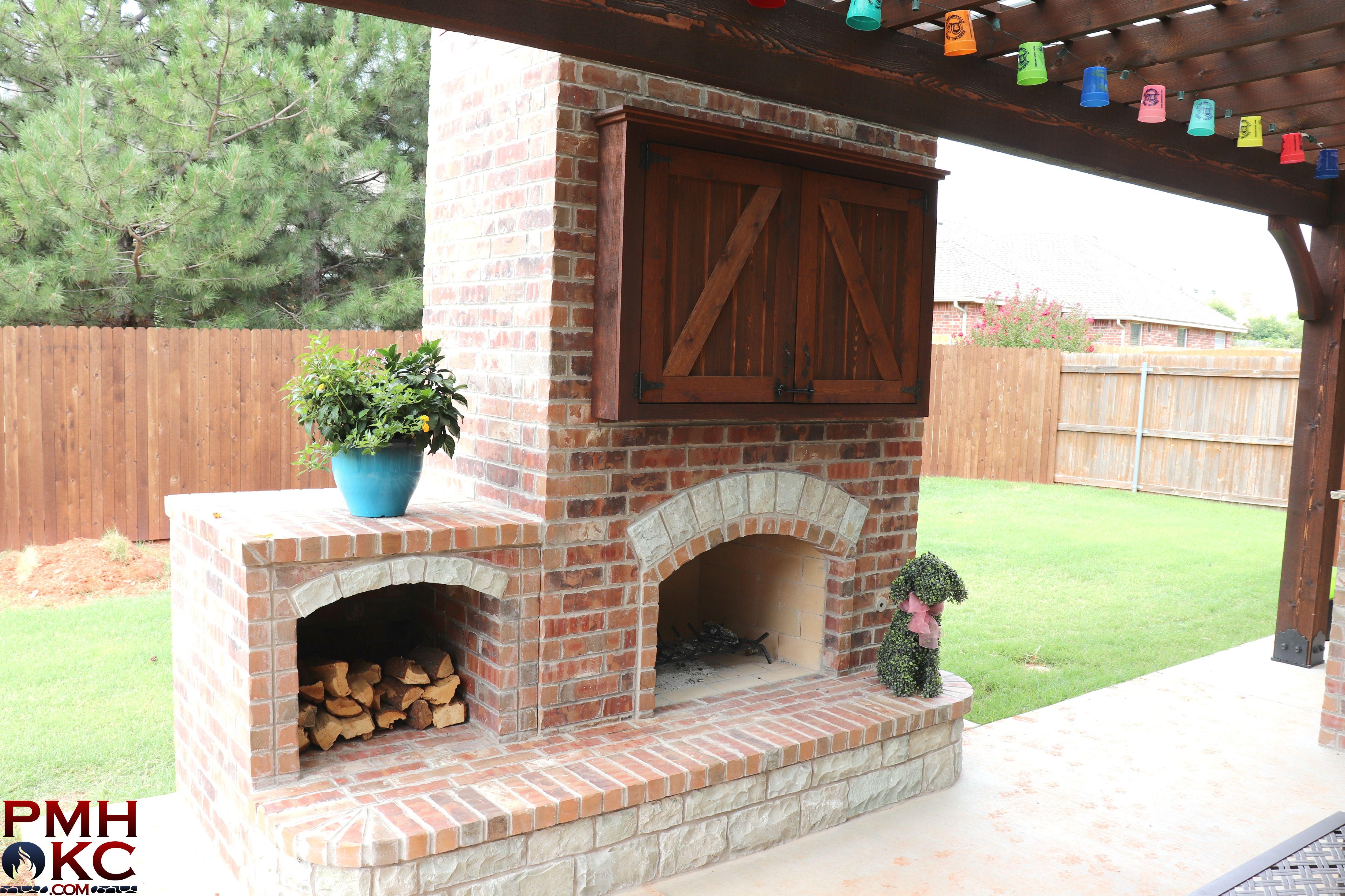 Custom Made Brick Fireplace With A Firewood Holder And Tv Box In 2020 Fireplace Brick Fireplace Custom Fireplace