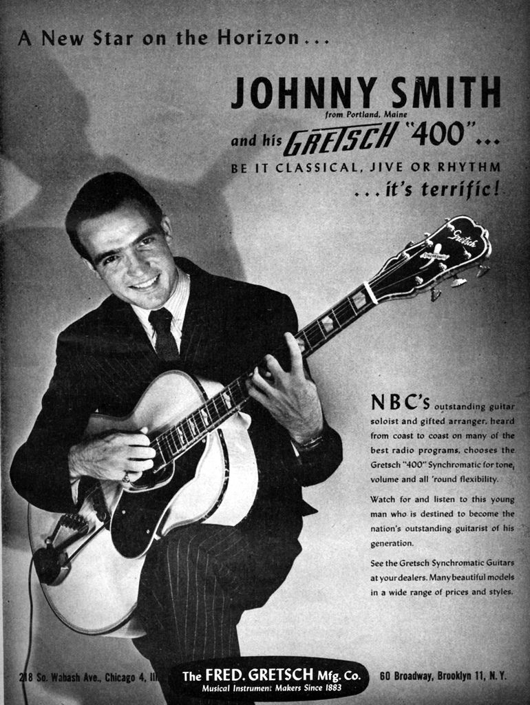 Johnny Smith Gretsch Ad Well All Reet In 2018 Pinterest Synchromatic Wiring Diagram Beatles Guitar Jazz Shop Art