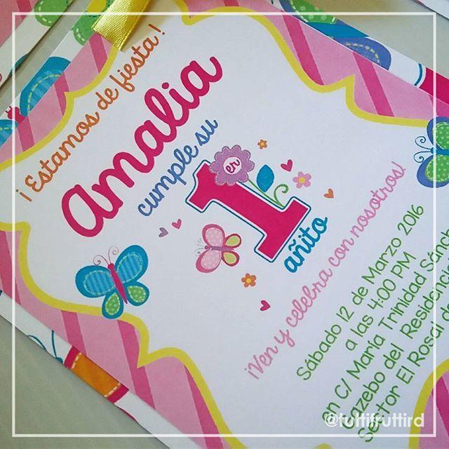 Mulpix Flores Y Mariposas Para El Primer Añito De Amalia El
