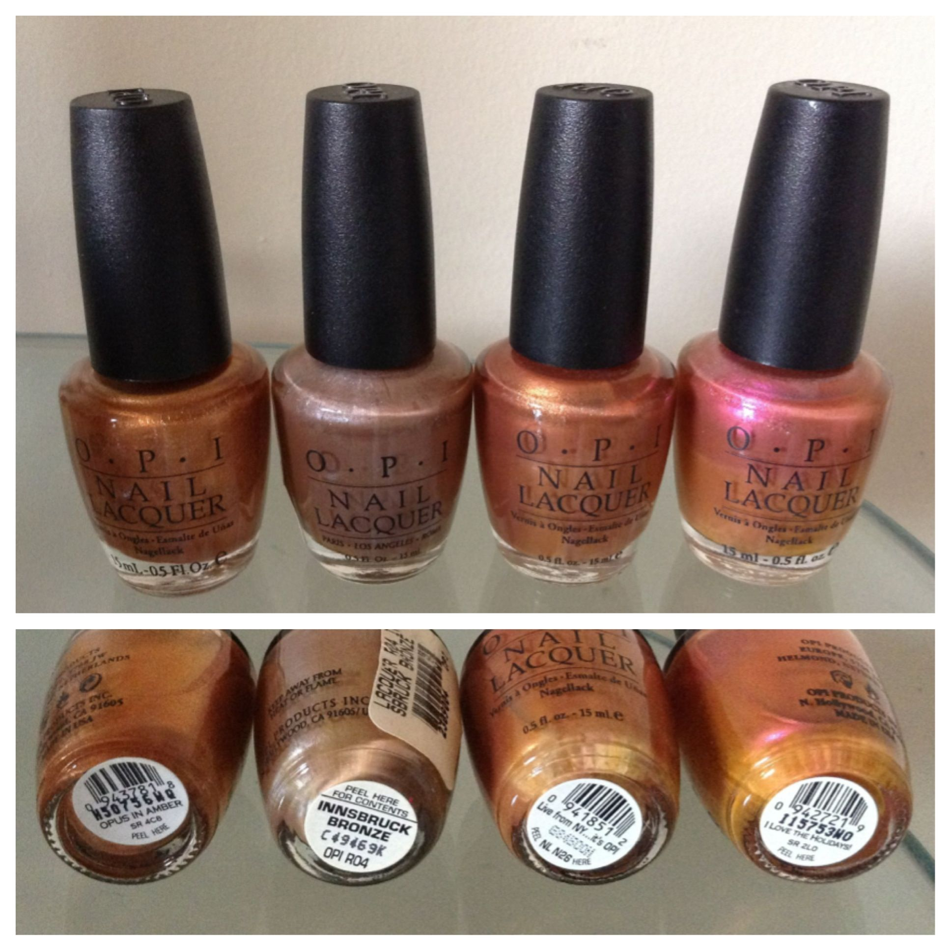 Nail Polish Colors Bronze: OPI Nail Polish Opus In Amber Innsbruck Bronze Live From