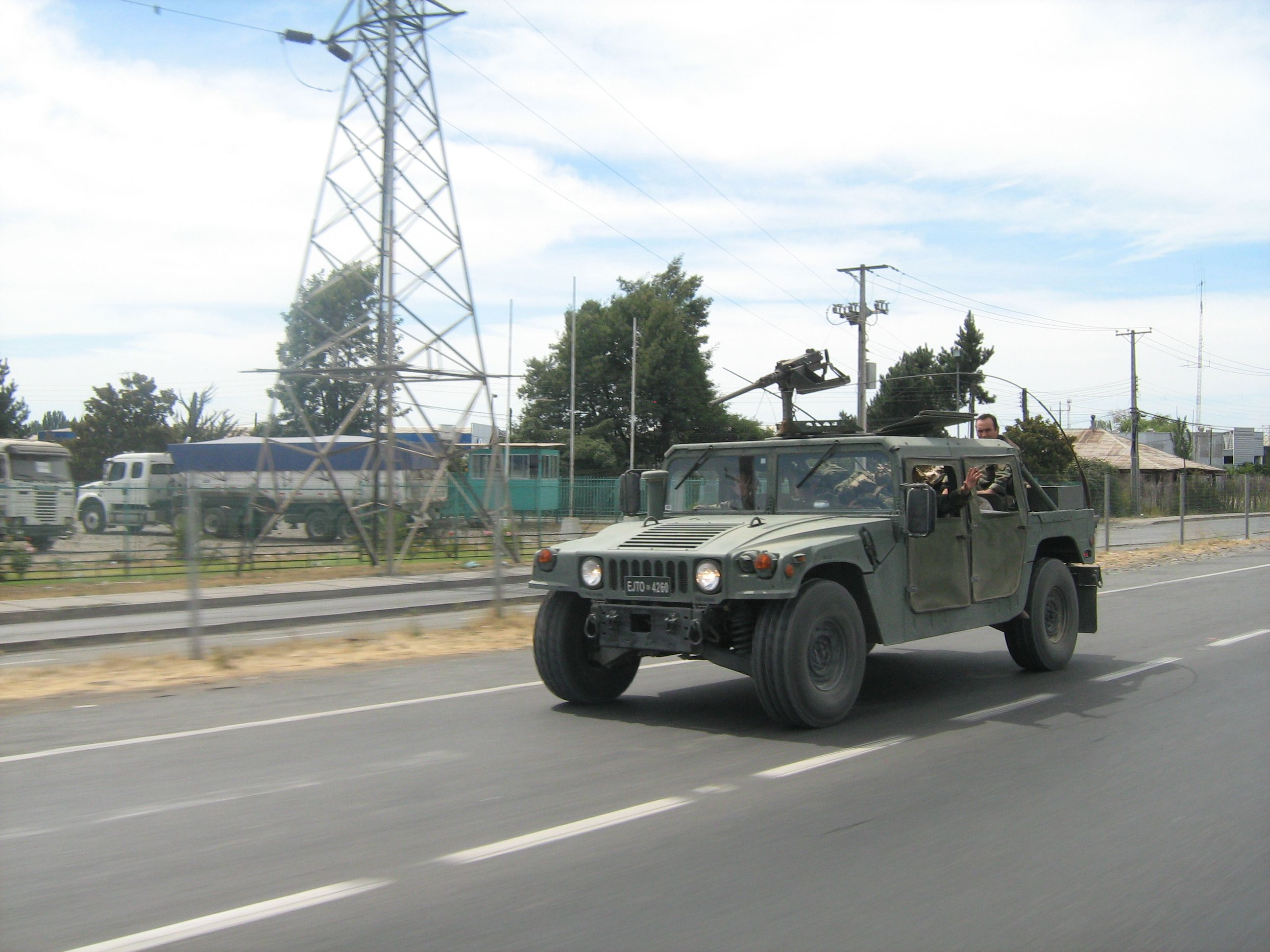 Who needs a sports car? Give me a humvee! Love these things. And sure, throw a .50 cal. on top of that bad boy. X)
