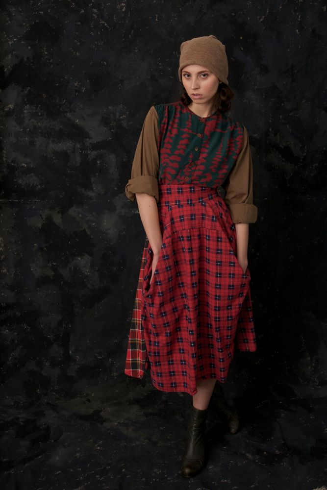 Skirt Made From Recycled Men Shirt Colorful Fashion