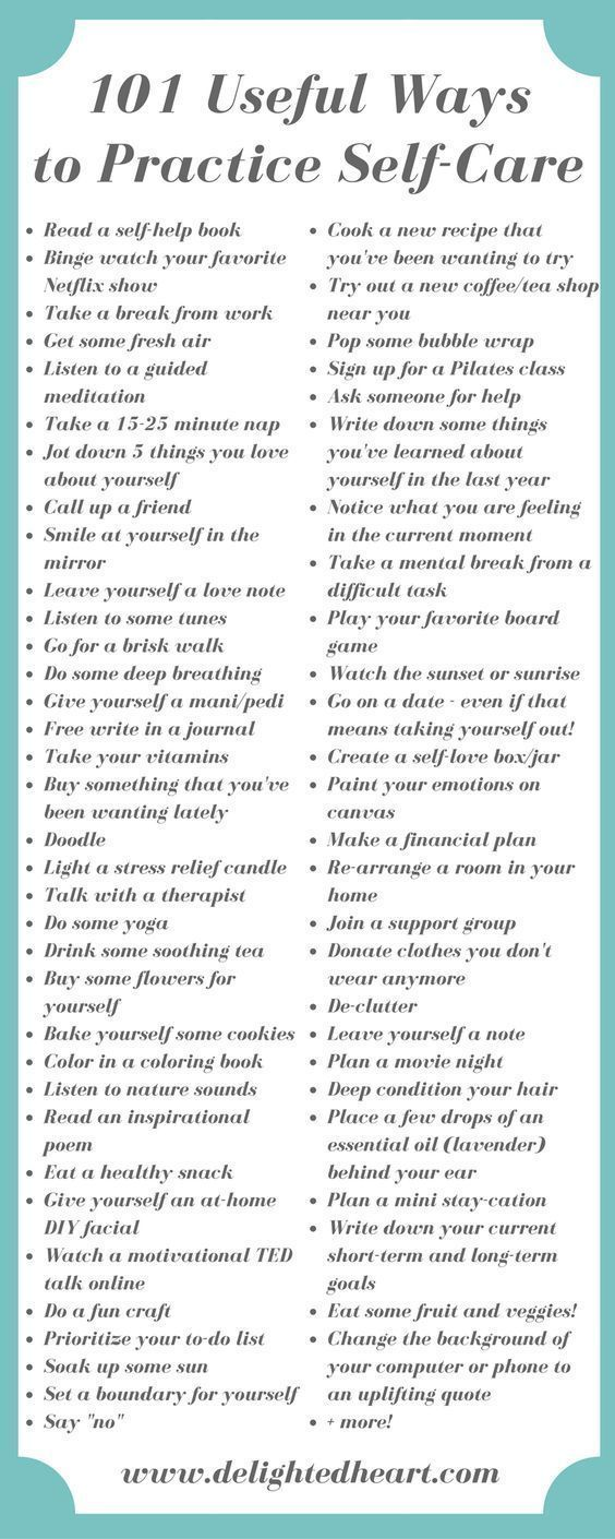 Your Complete GoTo List When You Need Help Finding A SelfCare