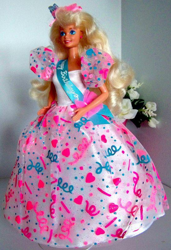 1994 Happy Birthday Barbie | Barbie | Barbie, Barbie dolls ...